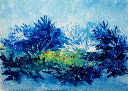 daily_painting_439_blue_palmettos_abstract_oil_pai_c5ae7b69c725523d95713ef59c3356eb