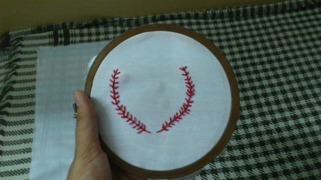 This was the first try to see if I can do the fern stitch at last or not