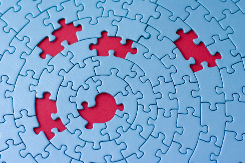 jigsaw with missing pieces